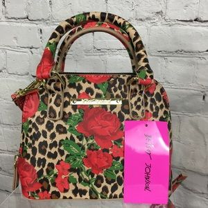 NWT Betsey Johnson MINI Top Handle Crossbody Bag